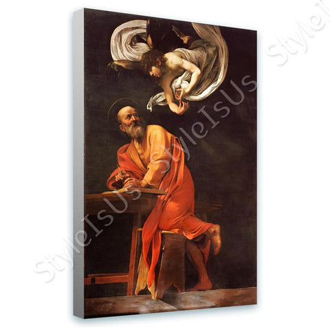 Caravaggio The Inspiration of Saint Matthew | Canvas, Posters, Prints & Stickers - StyleIsUS.com