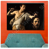 Caravaggio David with the Head of Goliath | Canvas, Posters, Prints & Stickers - StyleIsUS.com
