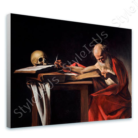 Caravaggio Saint Jerome Writing | Canvas, Posters, Prints & Stickers - StyleIsUS.com