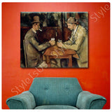 Paul Cezanne Card Players | Canvas, Posters, Prints & Stickers - StyleIsUS.com