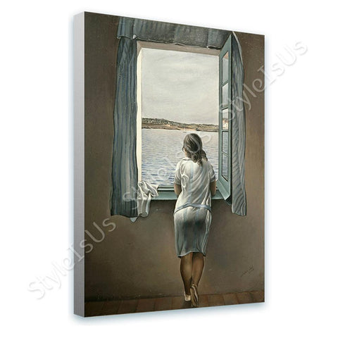 Salvador Dali Woman at the Window | Canvas, Posters, Prints & Stickers - StyleIsUS.com