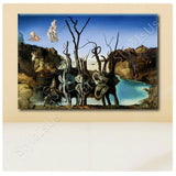 Salvador Dali Swans Reflecting Elephants | Canvas, Posters, Prints & Stickers - StyleIsUS.com