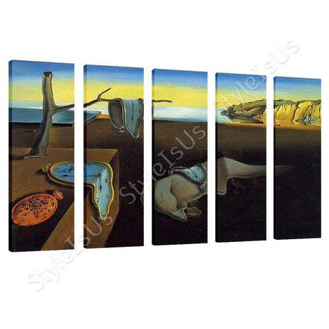 Salvador Dali The Persistence of Memory 5 Panels | Canvas, Posters, Prints & Stickers - StyleIsUS.com