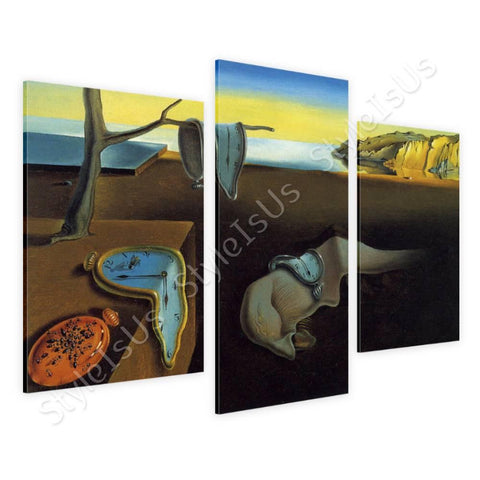 Salvador Dali The Persistence of Memory 3 Panels | Canvas, Posters, Prints & Stickers - StyleIsUS.com