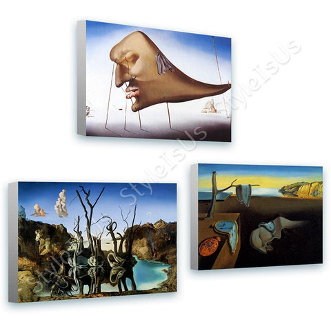 Salvador Dali Sleep Reflecting Memory Set Of 3 | Canvas, Posters, Prints & Stickers - StyleIsUS.com