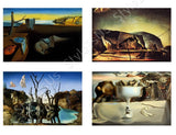 Salvador Dali Telephone Memory Elephants Face Set Of 4 | Canvas, Posters, Prints & Stickers - StyleIsUS.com
