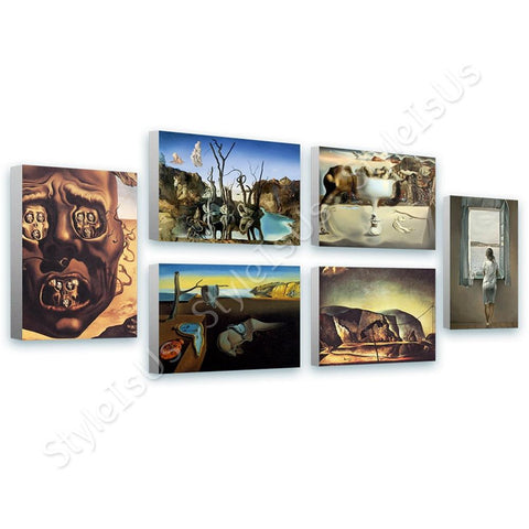Salvador Dali War Woman Telephone Face Set Of 6 | Canvas, Posters, Prints & Stickers - StyleIsUS.com