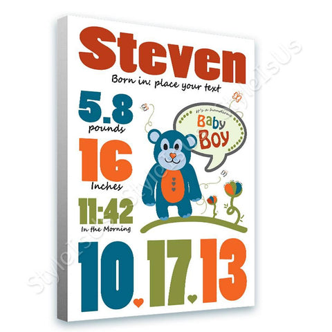 Alonline Designs birthday date boy V2 | Canvas, Posters, Prints & Stickers - StyleIsUS.com