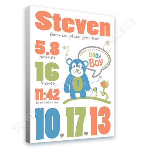 Alonline Designs birthday date boy V3 | Canvas, Posters, Prints & Stickers - StyleIsUS.com