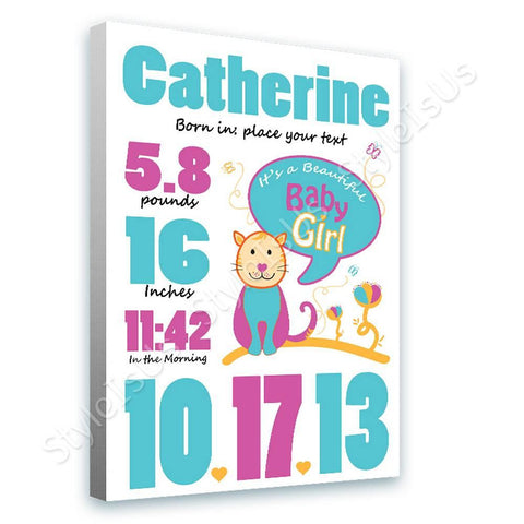 Alonline Designs birthday date girl V4 | Canvas, Posters, Prints & Stickers - StyleIsUS.com