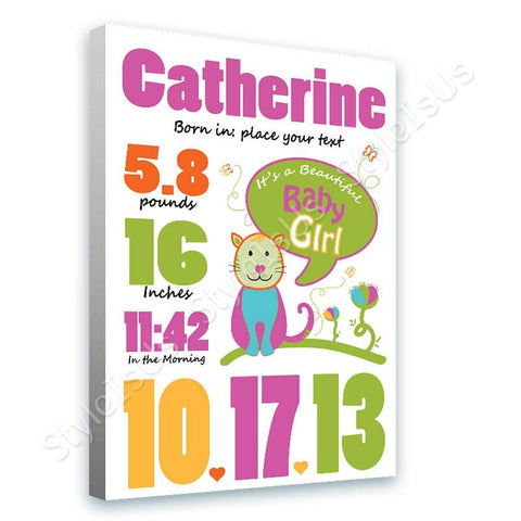 Alonline Designs birthday date girl V5 | Canvas, Posters, Prints & Stickers - StyleIsUS.com