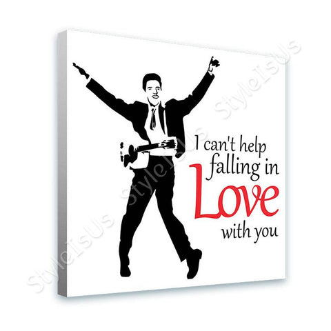Alonline Designs Elvis Presley singing falling in love | Canvas, Posters, Prints & Stickers - StyleIsUS.com