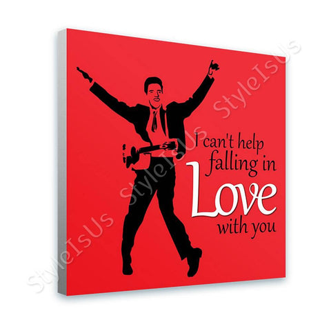 Alonline Designs Elvis Presley singing falling in love red | Canvas, Posters, Prints & Stickers - StyleIsUS.com