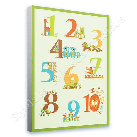 Alonline Designs animal numbers | Canvas, Posters, Prints & Stickers - StyleIsUS.com
