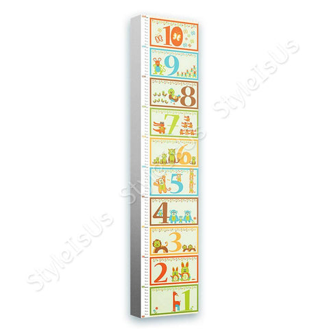 Alonline Designs animal numbers height meter | Canvas, Posters, Prints & Stickers - StyleIsUS.com