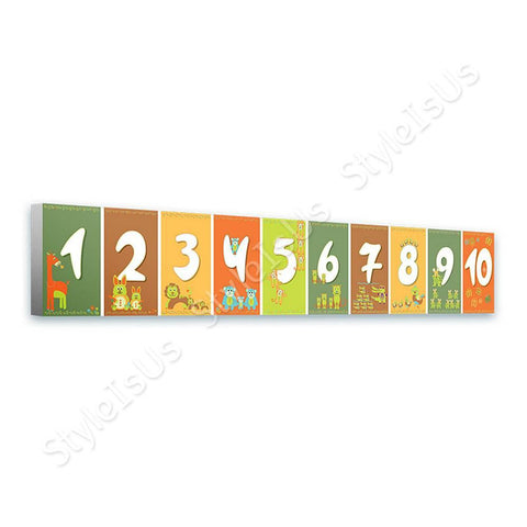 Alonline Designs Horizontal Animal numbers | Canvas, Posters, Prints & Stickers - StyleIsUS.com