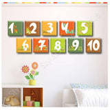 Alonline Designs Animal numbers colorful Set Of 10 | Canvas, Posters, Prints & Stickers - StyleIsUS.com