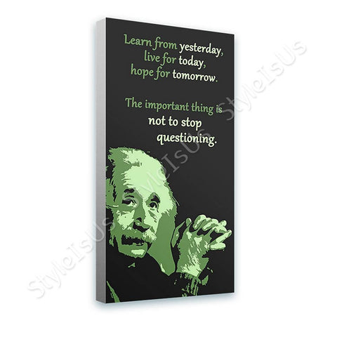 Alonline Designs Albert Einstein Dont stop questioning | Canvas, Posters, Prints & Stickers - StyleIsUS.com