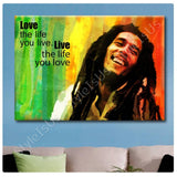 Alonline Designs Bob Marley Jamaican reggae singer Quote | Canvas, Posters, Prints & Stickers - StyleIsUS.com