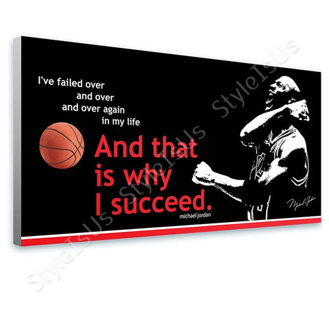 Alonline Designs Quote basketball michael jordan rectangle winning | Canvas, Posters, Prints & Stickers - StyleIsUS.com