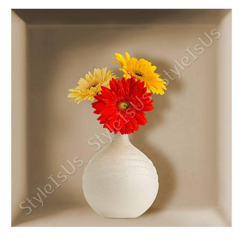 Alonline Designs NICHE Vase Flowers 3D | Canvas, Posters, Prints & Stickers - StyleIsUS.com