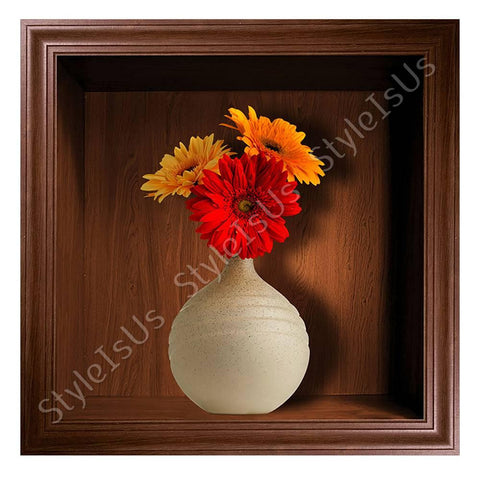 Alonline Designs NICHE Flowers in vase 3D | Canvas, Posters, Prints & Stickers - StyleIsUS.com