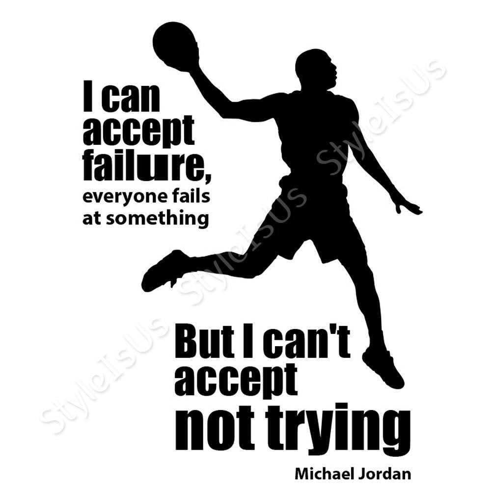 Alonline designs quote basketball michael jordan accept failure canv styleisus