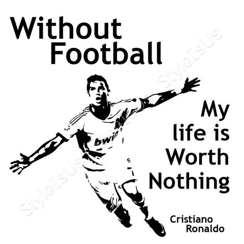 Alonline Designs Cristiano Ronaldo Without Football | Canvas, Posters, Prints & Stickers - StyleIsUS.com