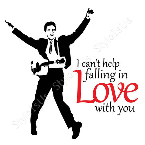 Alonline Designs Elvis Presley I cant help falling in love with you | Canvas, Posters, Prints & Stickers - StyleIsUS.com
