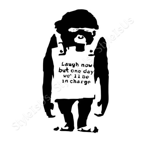 Alonline Designs Banksy Laugh Now | Canvas, Posters, Prints & Stickers - StyleIsUS.com