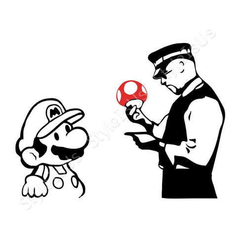 Alonline Designs Banksy Mario | Canvas, Posters, Prints & Stickers - StyleIsUS.com