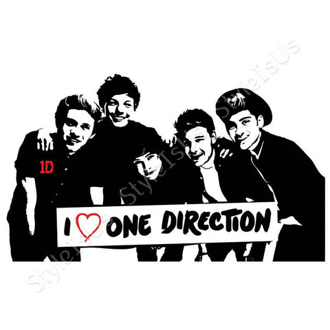 alonline designs i love one direction sticker canvas posters