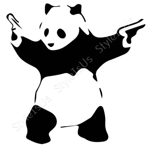 Alonline Designs Banksy Panda Gangster | Canvas, Posters, Prints & Stickers - StyleIsUS.com
