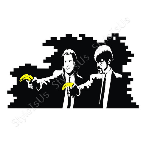 Alonline Designs Banksy Pulp Fiction | Canvas, Posters, Prints & Stickers - StyleIsUS.com