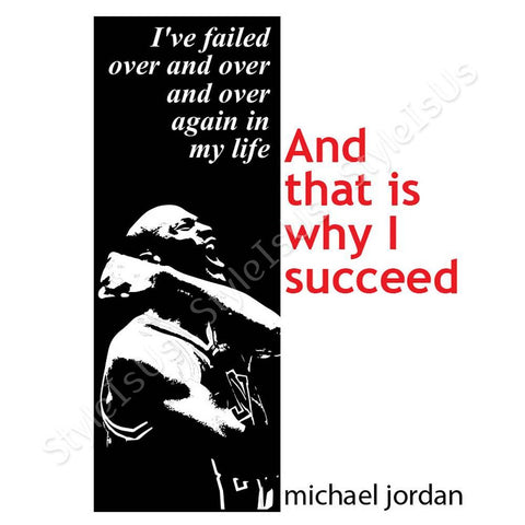 Alonline Designs Way I Succeed Michael Jordan | Canvas, Posters, Prints & Stickers - StyleIsUS.com