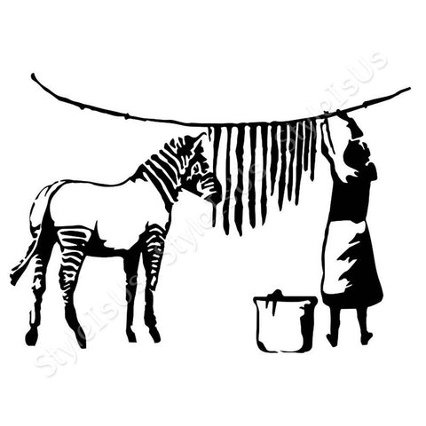 Alonline Designs Banksy Zebra | Canvas, Posters, Prints & Stickers - StyleIsUS.com