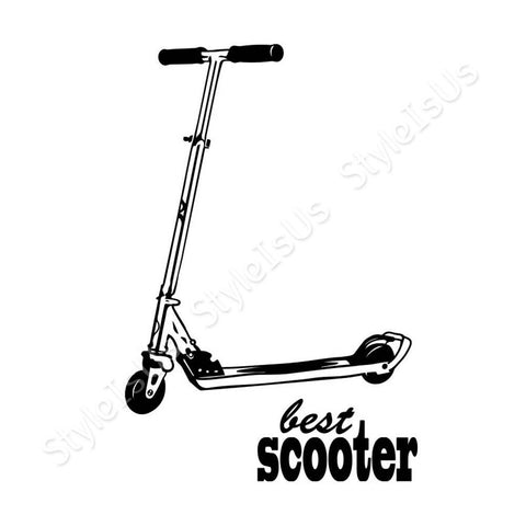 Alonline Designs Best Scooter | Canvas, Posters, Prints & Stickers - StyleIsUS.com