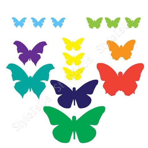 Alonline Designs stickers all sizes of butterflies colorful | Canvas, Posters, Prints & Stickers - StyleIsUS.com