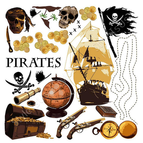 Alonline Designs Pirates | Canvas, Posters, Prints & Stickers - StyleIsUS.com