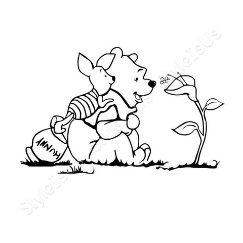Alonline Designs Winnie The Pooh and Piglet | Canvas, Posters, Prints & Stickers - StyleIsUS.com