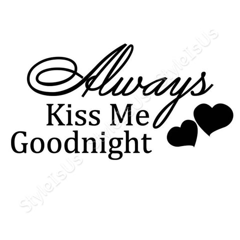 Alonline Designs Always Kiss Me Goodnight | Canvas, Posters, Prints & Stickers - StyleIsUS.com