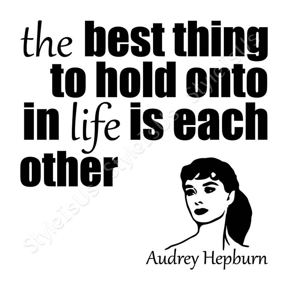 Alonline designs best thing to hold onto is each other canvas poste styleisus