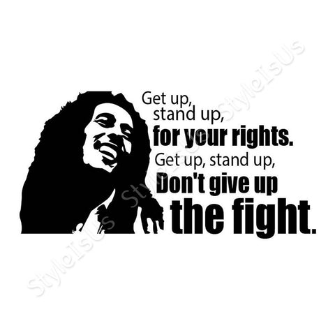 Alonline Designs Bob Marley Get Up Stand Up | Canvas, Posters, Prints & Stickers - StyleIsUS.com