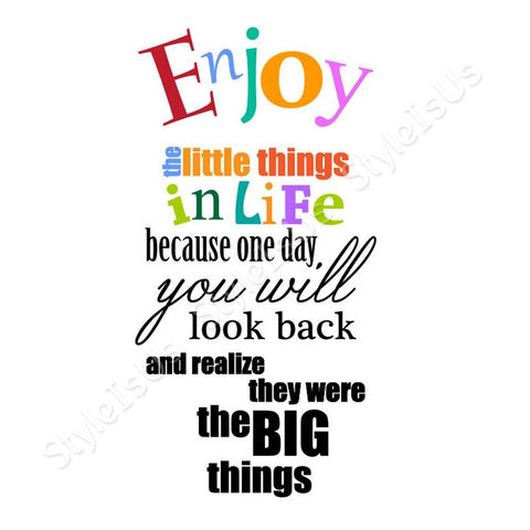 Alonline Designs Enjoy the little things in life | Canvas, Posters, Prints & Stickers - StyleIsUS.com
