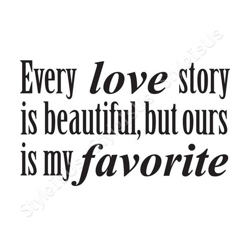 Alonline Designs Every Love Story Is Beautiful | Canvas, Posters, Prints & Stickers - StyleIsUS.com