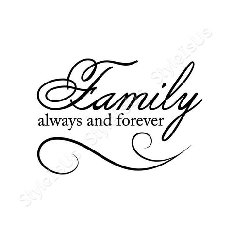 Alonline Designs Family always and forever | Canvas, Posters, Prints & Stickers - StyleIsUS.com