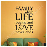 Alonline Designs Family Where Life Begins | Canvas, Posters, Prints & Stickers - StyleIsUS.com
