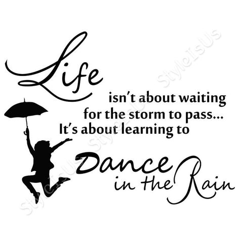 Alonline Designs Dance In The Rain | Canvas, Posters, Prints & Stickers - StyleIsUS.com