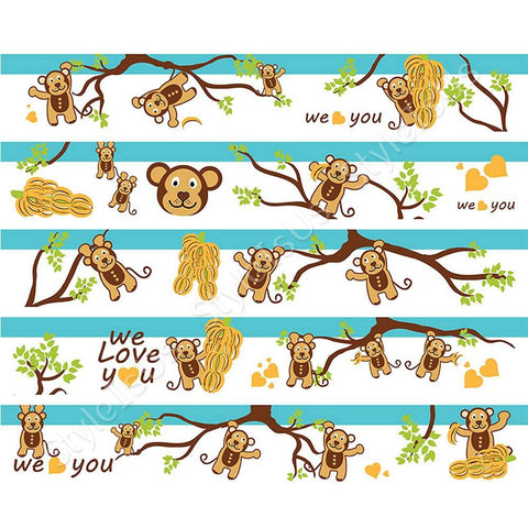 Alonline Designs Strip sticker we love you boy | Canvas, Posters, Prints & Stickers - StyleIsUS.com