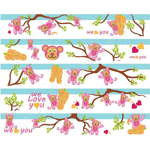 Alonline Designs Strip sticker we love you kid girl | Canvas, Posters, Prints & Stickers - StyleIsUS.com